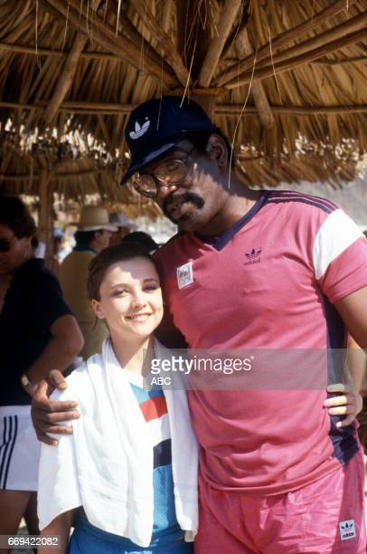 'Battle of the Network Stars' 5/23/85 on the ABC Television Network competition 'Battle of the Network Stars' talent EMMA SAMMS BUBBA SMITH...