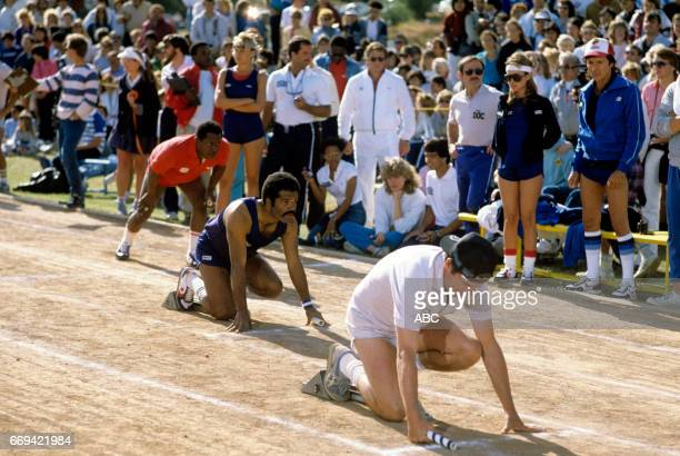 'Battle of the Network Stars' 5/3/84 on the ABC Television Network competition 'Battle of the Network Stars' talent FLIP WILSON TED LANGE WILLIAM...