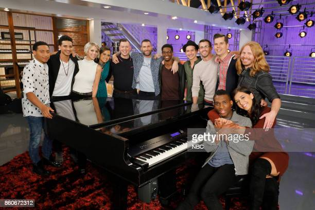 THE VOICE 'Battle Reality' Pictured Brandon Brown Anthony Alexander Emily Luther Whitney Fenimore Gary Carpentier Adam Levine Brandon Showell Michael...