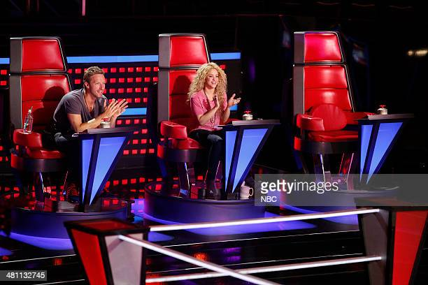 THE VOICE 'Battle Reality' Pictured Chris Martin Shakira
