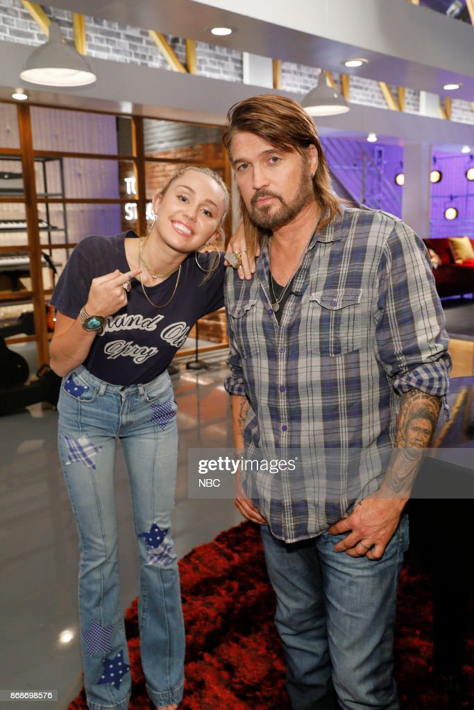 THE VOICE -- 'Battle Reality' -- Pictured: (l-r) Miley Cyrus, Billy Ray Cyrus --