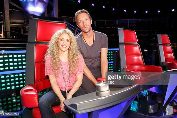 THE VOICE 'Battle Reality' Pictured Shakira Chris Martin