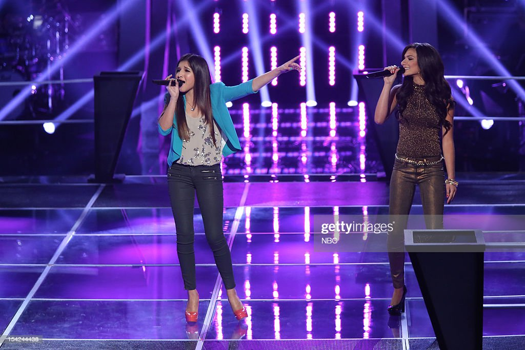 THE VOICE -- 'Battle Rounds' Episode 312 -- Pictured: (l-r) Kayla Nevarez, Alessandra Guercio --