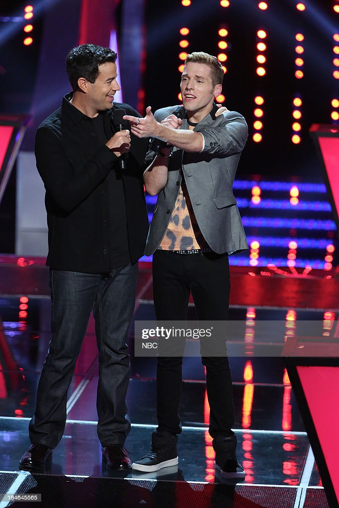 THE VOICE -- 'Battle Rounds' Episode 507 -- Pictured: (l-r) <a gi-track='captionPersonalityLinkClicked' href=/galleries/search?phrase=Carson+Daly&family=editorial&specificpeople=202941 ng-click='$event.stopPropagation()'>Carson Daly</a>, Nic Hawk --
