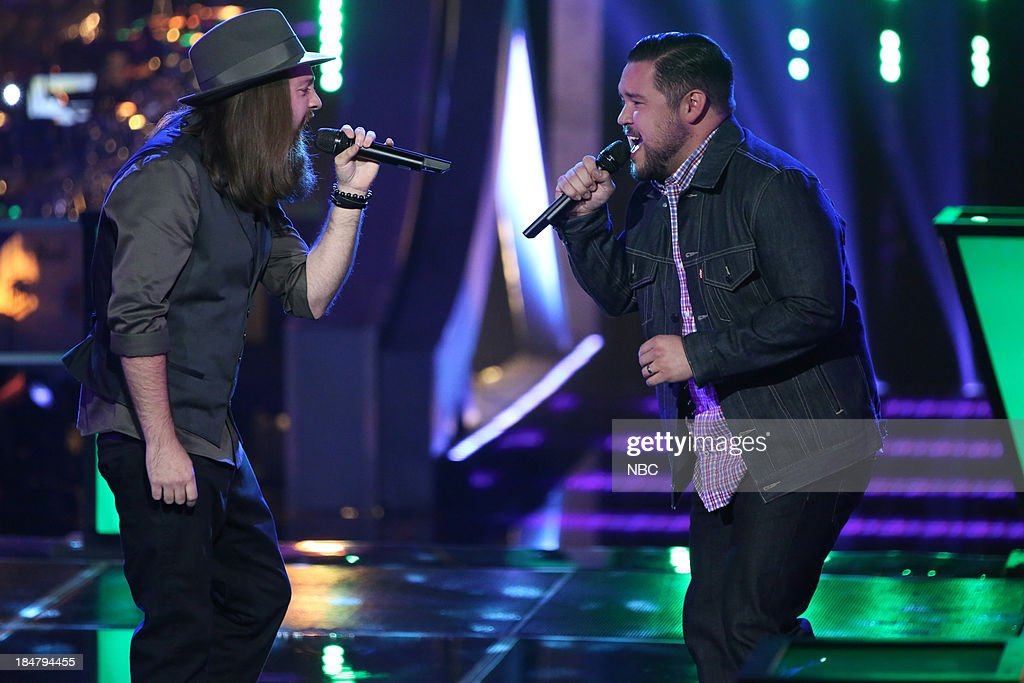 THE VOICE -- 'Battle Rounds' Episode 508 -- Pictured: (l-r) <a gi-track='captionPersonalityLinkClicked' href=/galleries/search?phrase=Cole+Vosbury&family=editorial&specificpeople=11402593 ng-click='$event.stopPropagation()'>Cole Vosbury</a>, Lupe Carroll --