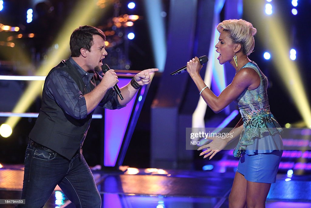 THE VOICE -- 'Battle Rounds' Episode 508 -- Pictured: (l-r) Justin Blake, Ashley DuBose --