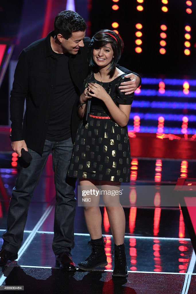 THE VOICE -- 'Battle Rounds' Episode 509 -- Pictured: (l-r) Carson, Daly, Juhi Pathak --