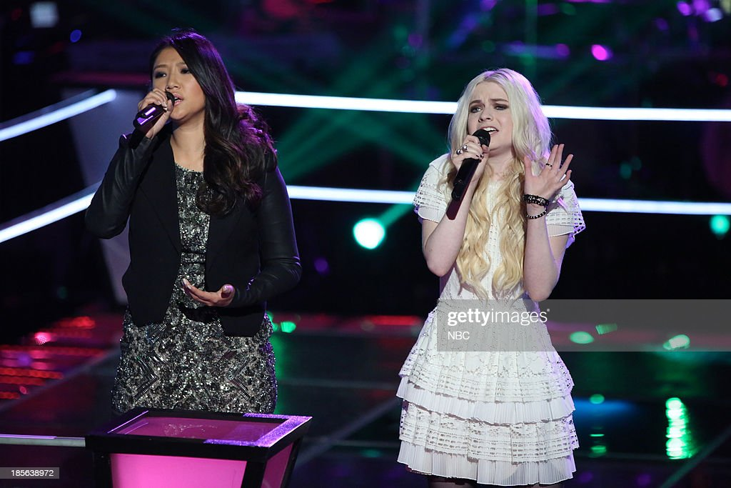 THE VOICE -- 'Battle Rounds' Episode 510 -- Pictured: (l-r) Cilla Chan, Holly Henry --