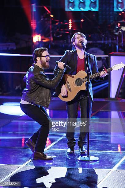 THE VOICE 'Battle Rounds' Episode 608 Pictured Coty Walker and Clinton Walker of Brothers Walker