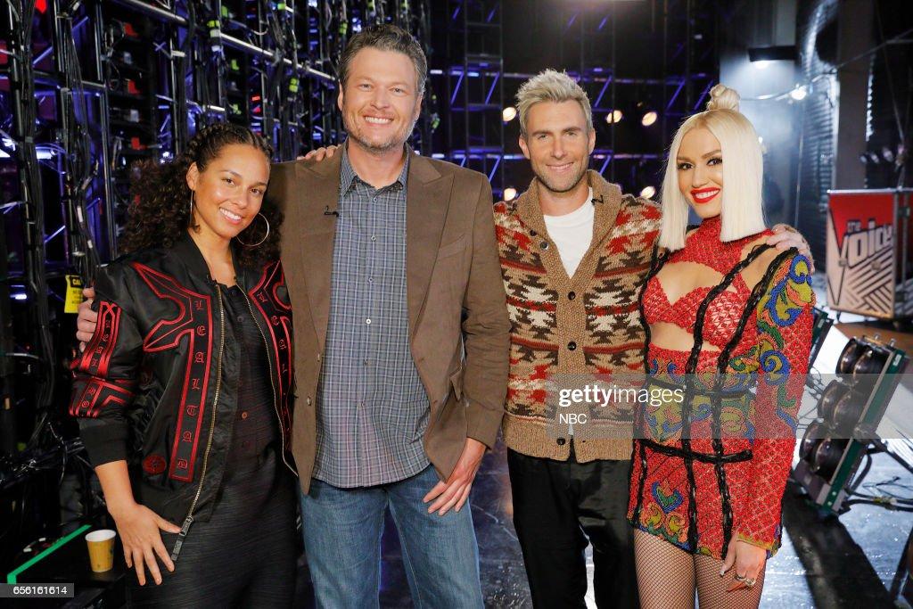 THE VOICE -- 'Battle Rounds' -- Pictured: (l-r) Alicia Keys, Blake Shelton, Adam Levine, Gwen Stefani --