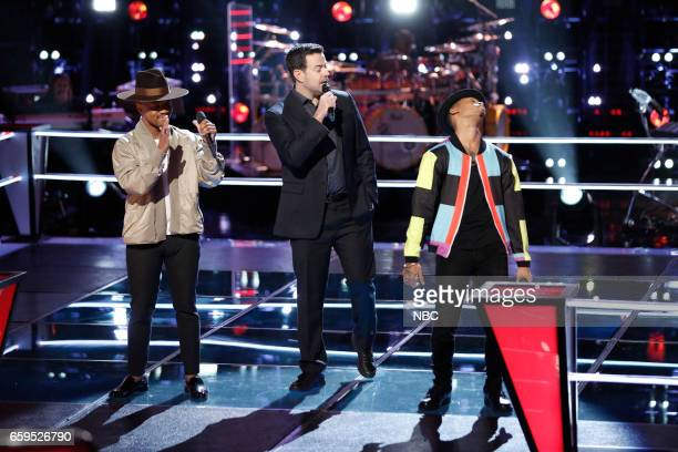THE VOICE 'Battle Rounds' Pictured Kawan DeBose Carson Daly Malik Davage