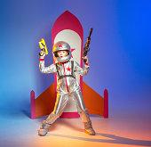 Battle warrior cosmonaut