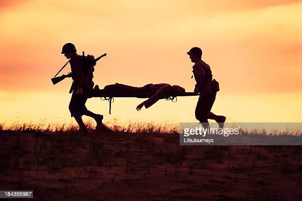 Champ de bataille de la Seconde Guerre mondiale, Casuality évacuation par unité Medics