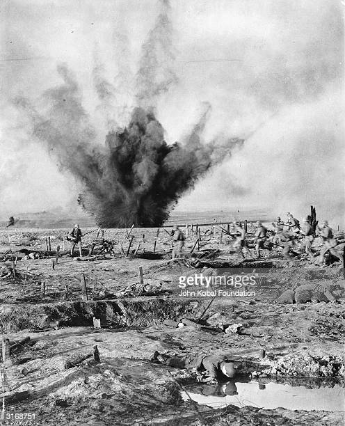 A battlefield scene from 'All Quiet on the Western Front' directed by Lewis Milestone
