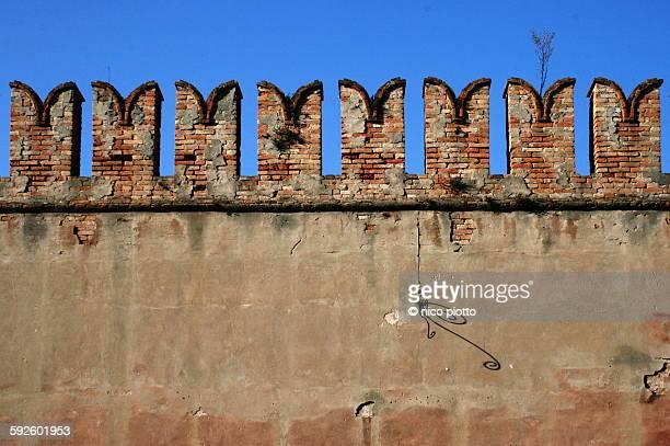 Battlements in the wall of Venetian Arsenal