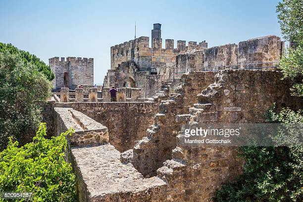 Battlements of Castelo de Sao Jorge
