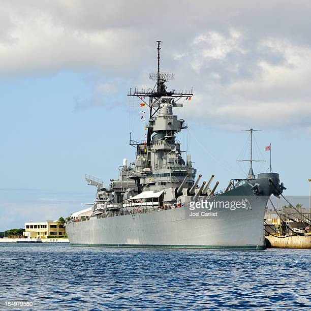 U.S.S. Missouri battleship in Pearl Harbor