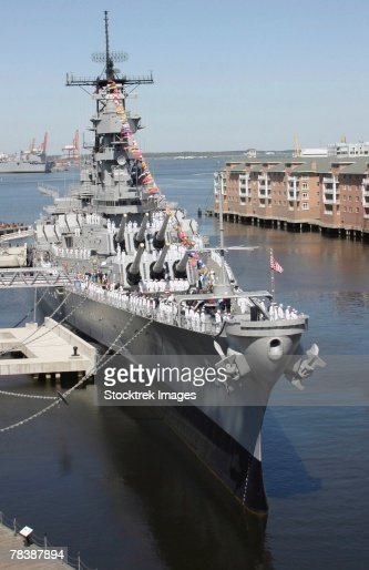 Battleship USS Wisconsin. : Stock Photo