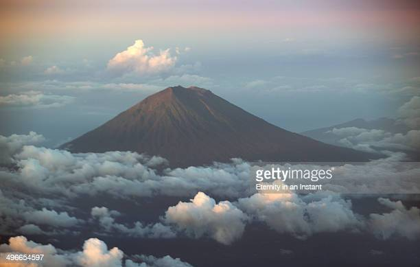 Batur Volcano above the clouds