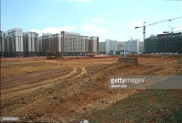 Bau einer Wohnsiedlung in Sembawang ohne Jahr