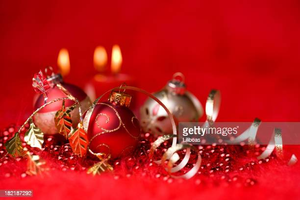 Baubles on Red