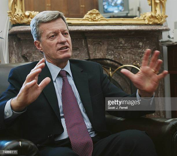 BAUCUSSenate Finance Chairman Max Baucus DMont talks with reporters in the Senate Daily Press Gallery on a variety of issues especially the fasttrack...