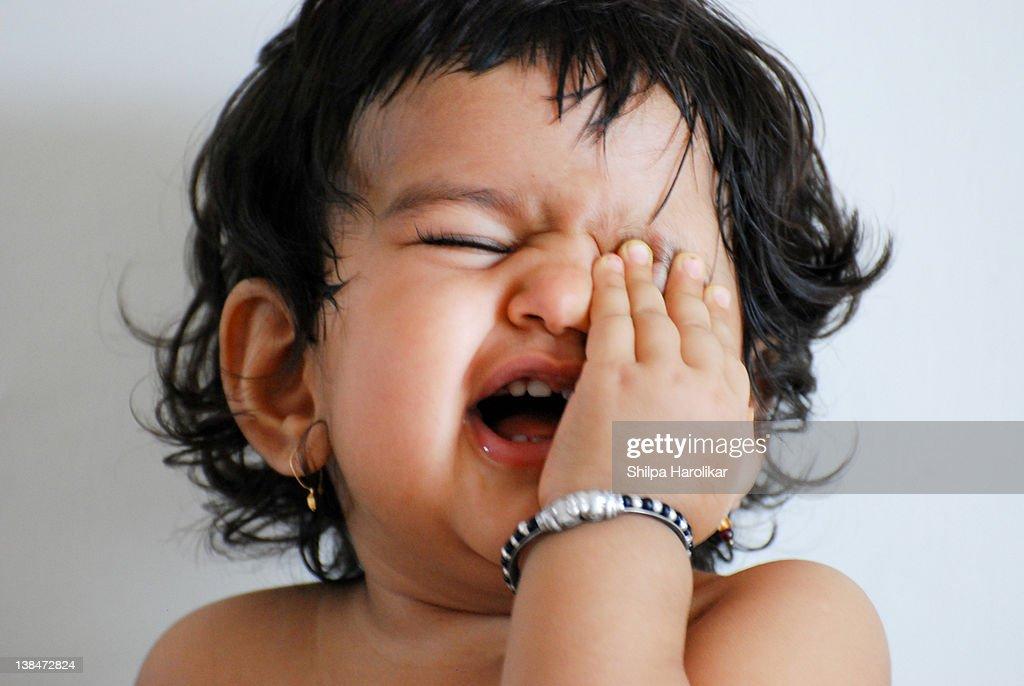 Baughing baby : Stock Photo