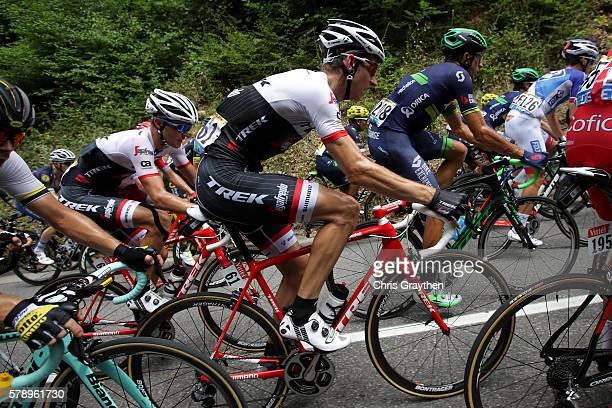 Bauke Mollema of Netherlands riding for TrekSegafredo rides in the peloton during stage ninteen of the 2016 Le Tour de France a 146km stage from...