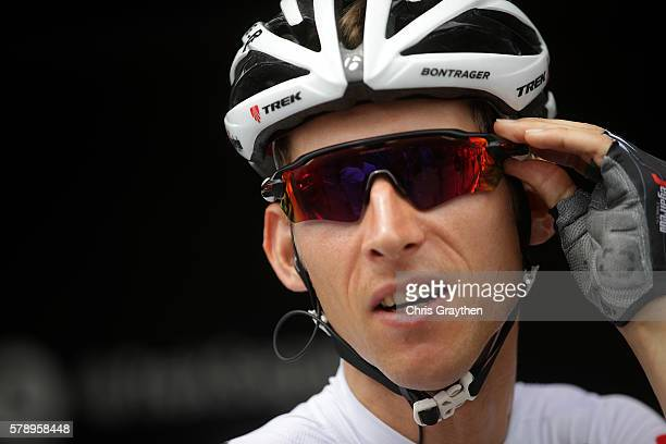 Bauke Mollema of Netherlands riding for TrekSegafredo warms up prior to stage ninteen of the 2016 Le Tour de France a 146km stage from Albertville to...