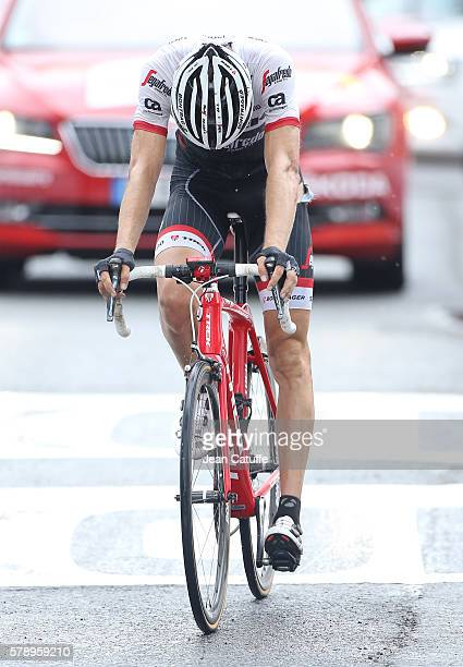 Bauke Mollema of The Netherlands and TrekSegafredo crosses the finish line of stage 19 of the Tour de France 2016 a stage between Albertville and...