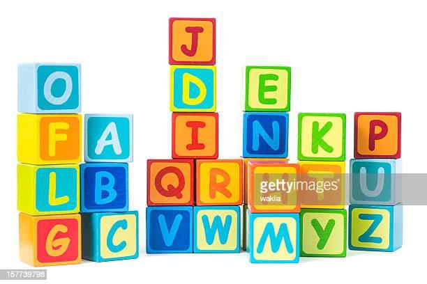 Bauklötze mit Buchstaben Alphabet