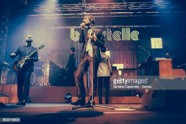Baustelle perform on stage on March 13 2017 in Rome Italy