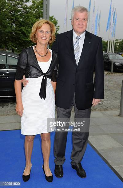 Bavaria State Premier Horst Seehofer and his wife Karin attend the Bavarian Sport Award 2010 at the International Congress Center Munich on July 17...