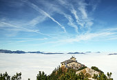 Panorama of the Bavarian Alps with the sea of clouds around Eagle nest, Germany
