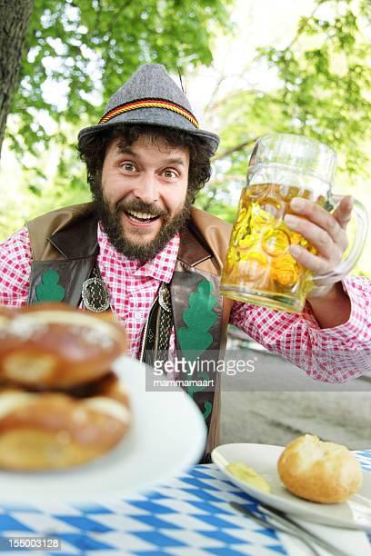 Bavarian Bearded Guy in a Biergarten