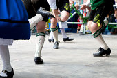 bavarian folk dance at oktoberfest in munich