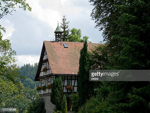 Bayerische half Holz-Haus mit bell tower