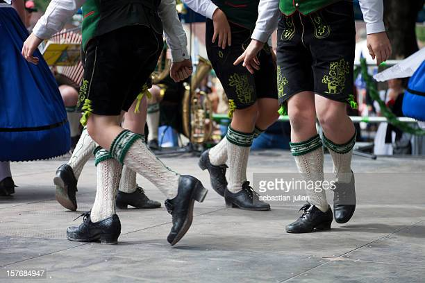 bavarian legs dancing at oktoberfest