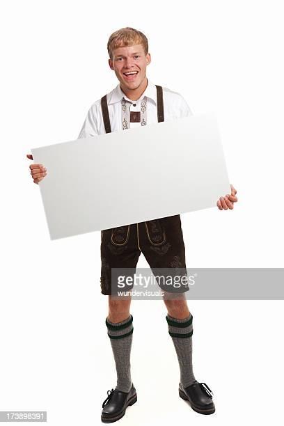 Bavarian man in Oktoberfest dress