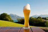 Bayerisches Bier und Bayerische Berge.