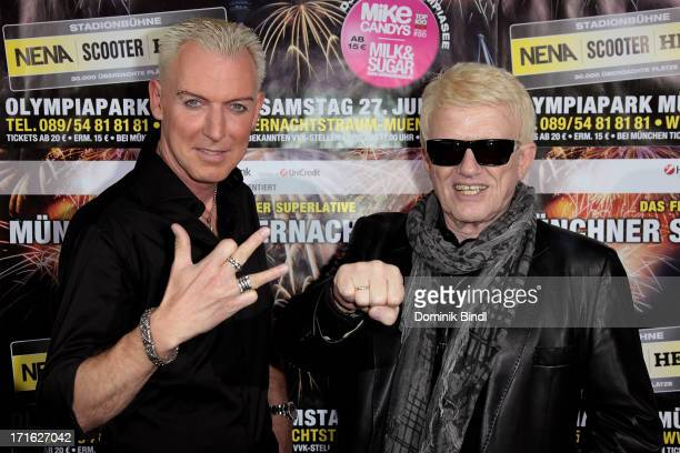 HP Baxxter and Heino attend a press conference for the Muenchner Sommernachtstraum 2013 at Hotel Bayerischer Hof on June 27 2013 in Munich Germany