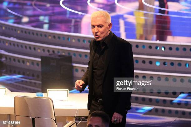P Baxxter during the fourth event show and semi finals of the tv competition 'Deutschland sucht den Superstar' at Coloneum on April 29 2017 in...