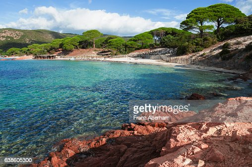 Bay and beach at Palombaggia, Corsica