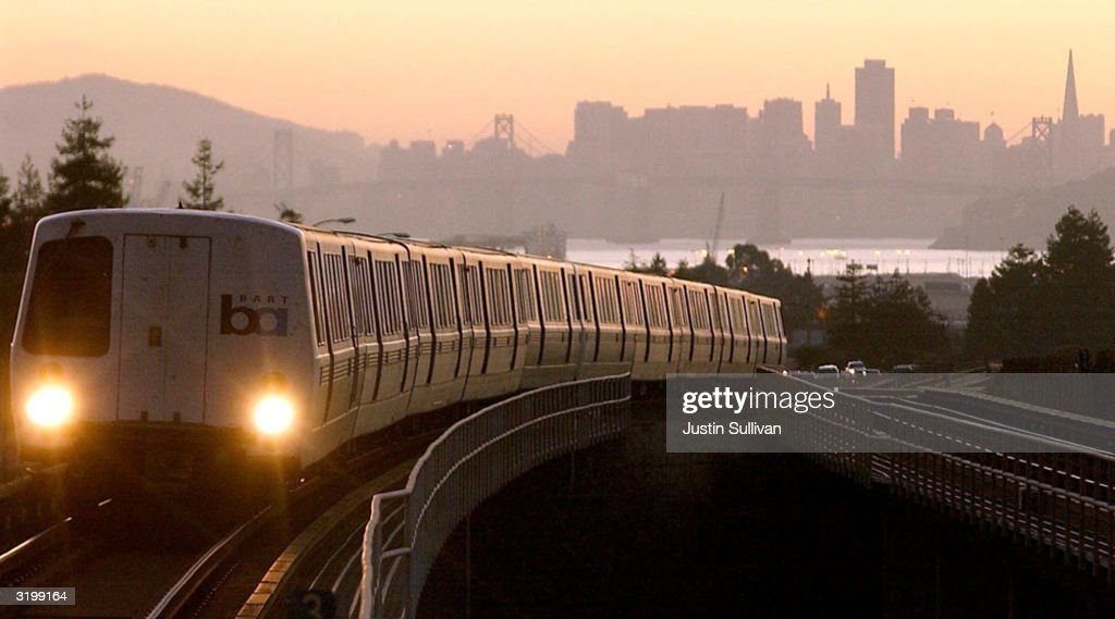 A Bay Area Rapid Transit (BART) train is seen in this undated file photo as it pulls into Oakland, California. The F.B.I has issued a warning April 2, 2004 to law enforcement agencies of a possible terrorist plot against buses and railways in major U.S. cities this summer.