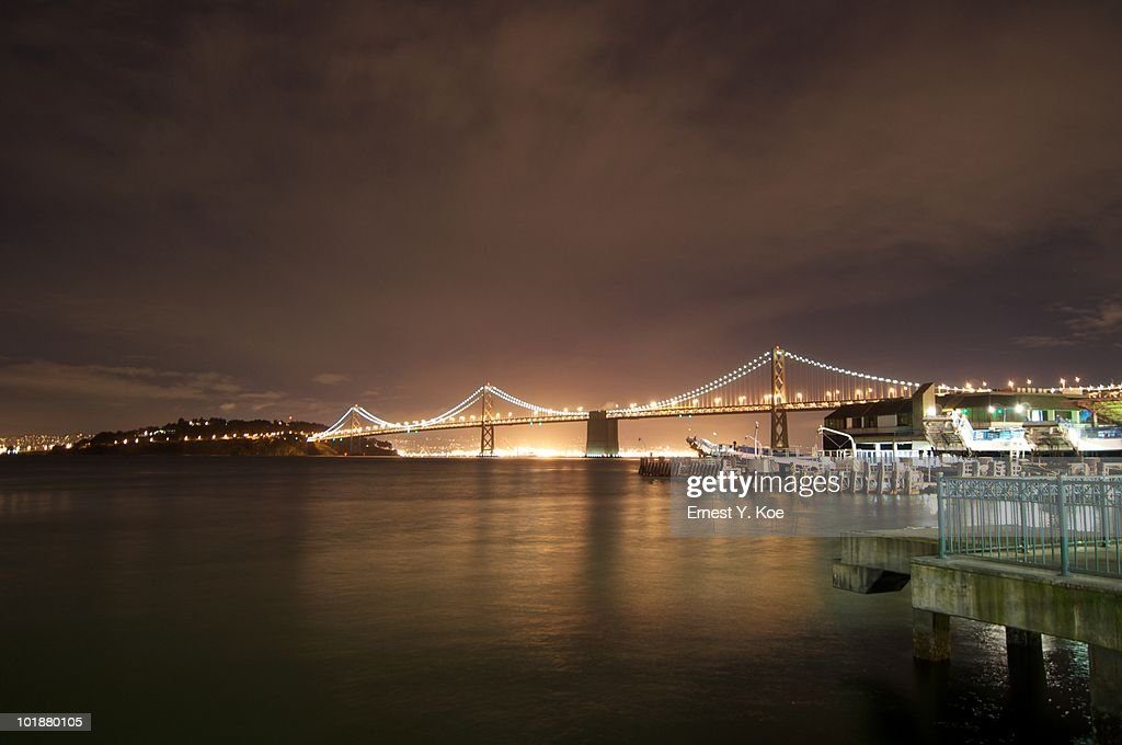 Bay Bridge At Dusk