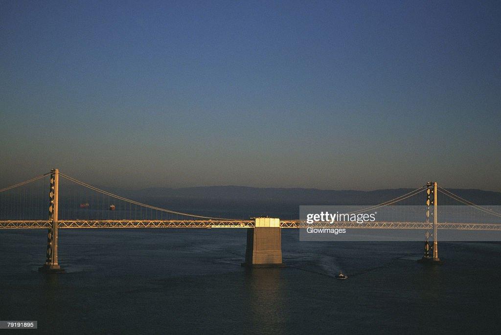 Bay Bridge, Oakland, California, Aerial view, west span : Foto de stock