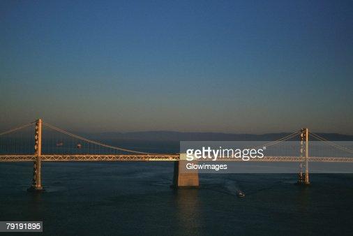 Bay Bridge, Oakland, California, Aerial view, west span : Stock Photo