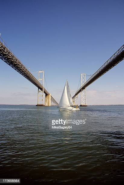 Bay Bridge with Sailboat