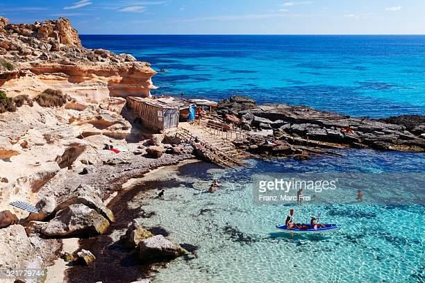 Bay Calo des Mort, Formentera, Balearic Islands, Spain