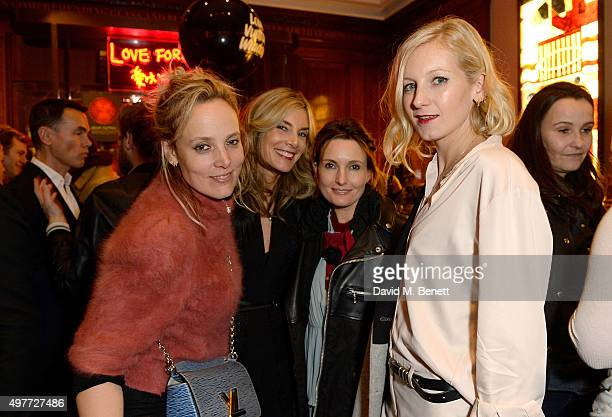 Bay Garnett Kim Hersov Daisy Bates and Savannah Miller attend the 'Louis Vuitton Windows' book launch at Maison Assouline on November 18 2015 in...